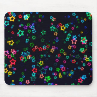 Colourful Pop Neon Star Mouse Pad