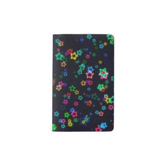Colourful Pop Neon Star Pocket Moleskine Notebook
