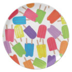 Colourful Popsicles! Plate