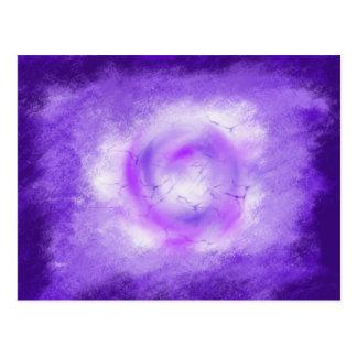 Colourful Portal Light Purple Art ESS 1st Dec 2017 Postcard