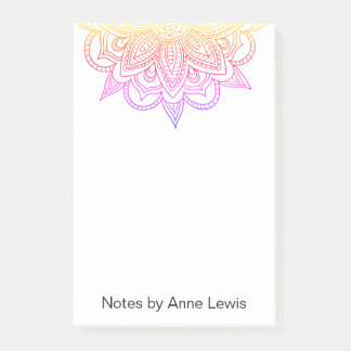 Colourful Post-it Notes with customisable message