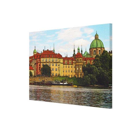 Colourful Prague Canvas Print