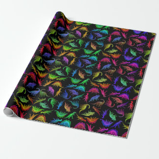Colourful Prehistoric Dinosaurs Wrapping Paper