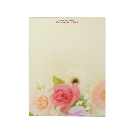 Colourful Pretty Flowers | Personalized Floral Notepad