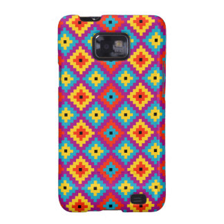 Colourful Primitive Mayan Bricks Pattern Galaxy SII Case