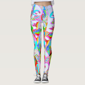 Colourful Printed Abstract Design Leggings