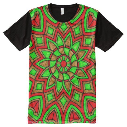 Colourful Protection Mandala Magick Art All-Over-Print T-Shirt