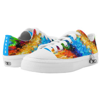 Colourful Psychedelic Abstract (Cust.) Low-Top Sneakers