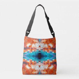 Colourful psychedelic kaleidoscope pattern crossbody bag