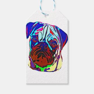 Colourful Pug Gift Tags
