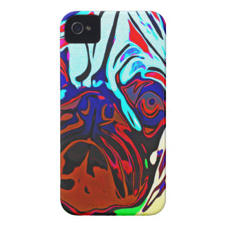 Colourful Pug iPhone 4 Case-Mate Cases