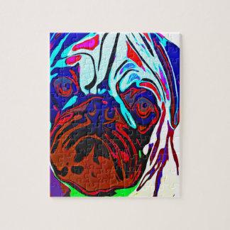 Colourful Pug Jigsaw Puzzle