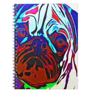 Colourful Pug Notebooks