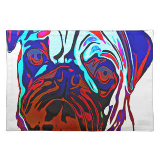 Colourful Pug Placemat