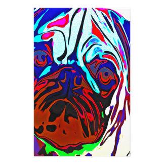 Colourful Pug Stationery