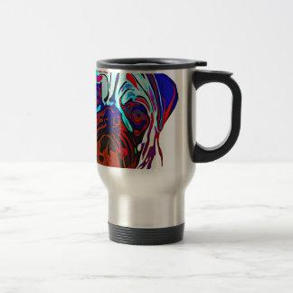 Colourful Pug Travel Mug
