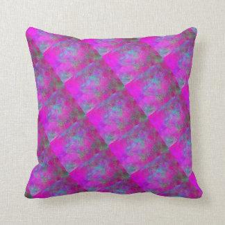 Colourful Purple blue green Throw Cushion 41x41 cm