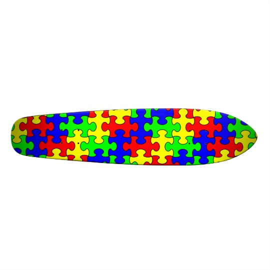 Colourful Puzzle Skateboard