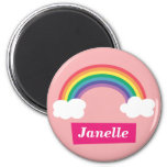 Colourful Rainbow and clouds, for Little Girls Magnets
