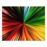 Colourful Rainbow Burst Abstract Digital Art