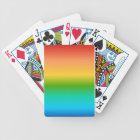 Colourful Rainbow colour gradient Bicycle Playing Cards