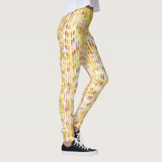 Colourful Rainbow Coloured Raindrop Pattern Leggings