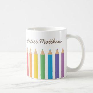 Colourful Rainbow Colouring Pencils School Kids Classic White Coffee Mug