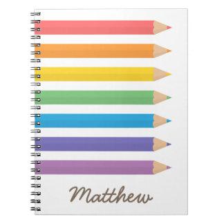 Colourful Rainbow Colouring Pencils School Kids Notebooks