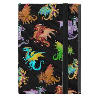 Colourful Rainbow Dragons School Covers For iPad Mini