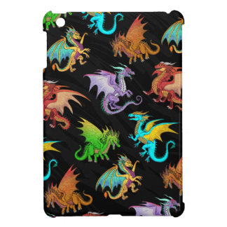 Colourful Rainbow Dragons School iPad Mini Case