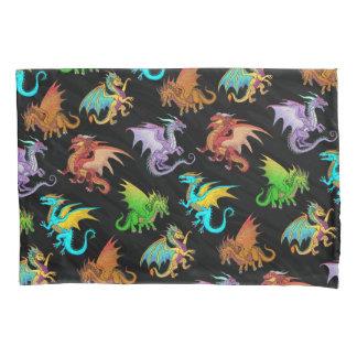 Colourful Rainbow Dragons School Pillowcase