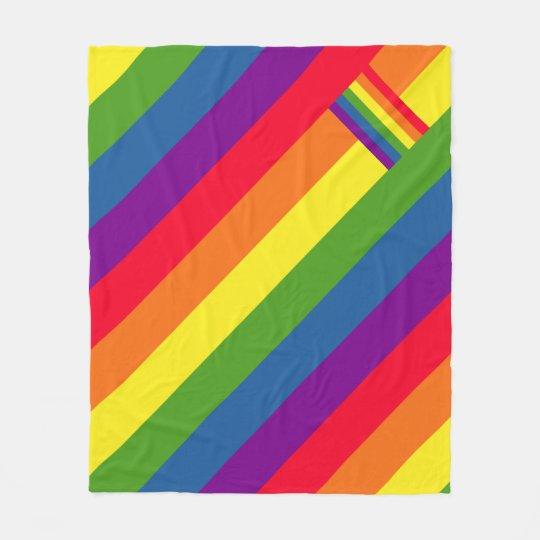 Colourful Rainbow Flag Gay Pride Fleece Blanket