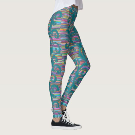 colourful rainbow legging