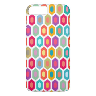 Colourful Rainbow Modern Ikat Pattern iPhone 7 Plus Case