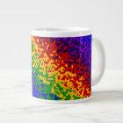 Colourful Rainbow Paint Splatters Abstract Art Large Coffee Mug