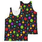 Colourful Rainbow Polka Dots All-Over-Print Tank Top