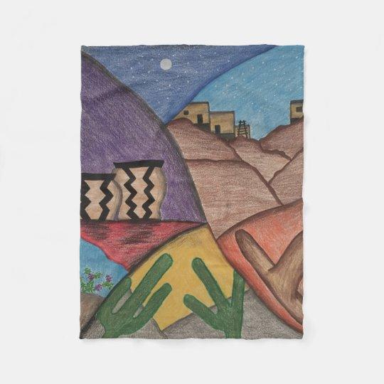 Colourful Rainbow Southwest Desert Fleece Blanket