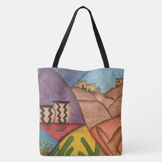 Colourful Rainbow Southwest Desert Tote Bag