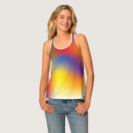 Colourful Rainbow tie dye style racerback tank Tank Top