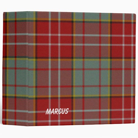 Colourful Red and Grey Ogilvie Plaid Binder