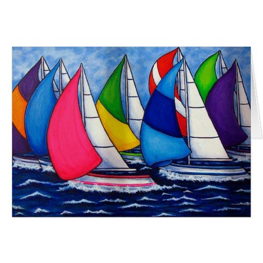 Colourful Regatta Card