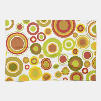 Colourful retro bubbles kitchen towel