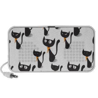 Colourful Retro Cat Feline Pattern Speaker System