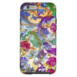 Colourful Retro Floral Collage 4-Purple Tint Tough iPhone 6 Case