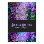 Colourful Retro Glitter Business Cards