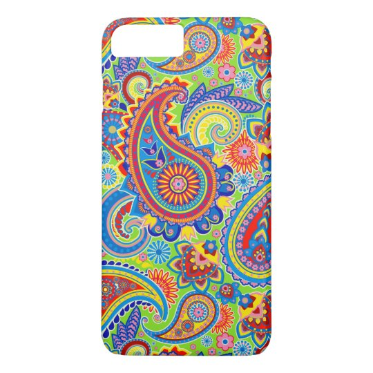 Colourful Retro Paisley Pattern iPhone 7 Plus Case