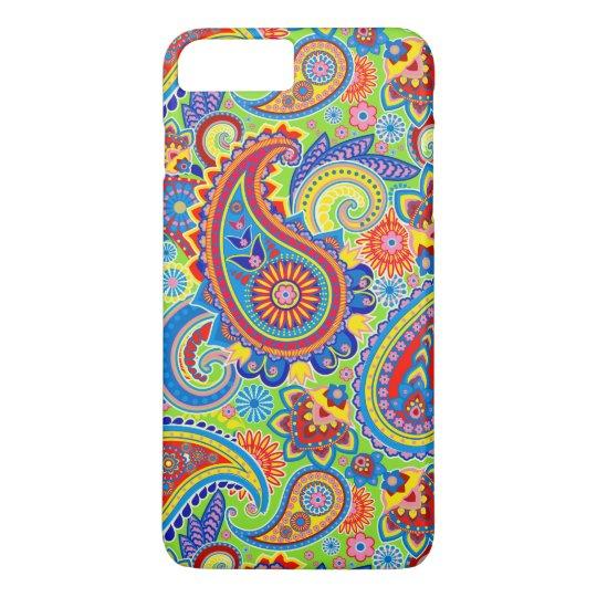 Colourful Retro Paisley Pattern iPhone 8 Plus/7 Plus Case