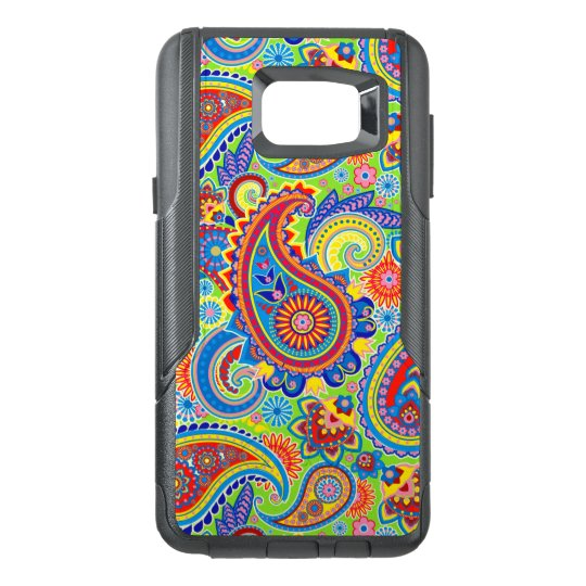 Colourful Retro Paisley Seamless Pattern OtterBox Samsung Note 5 Case