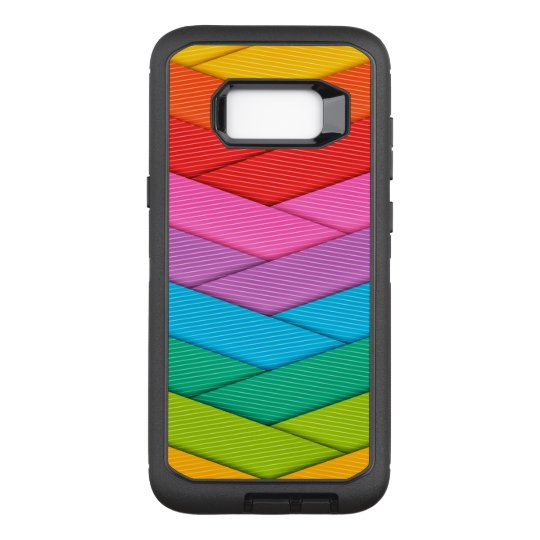 Colourful Ribbon Pattern OtterBox Defender Samsung Galaxy S8+ Case