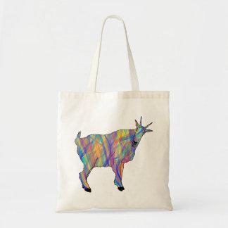 Colourful Ribbons Funny Goat Animal Art Design Tote Bag